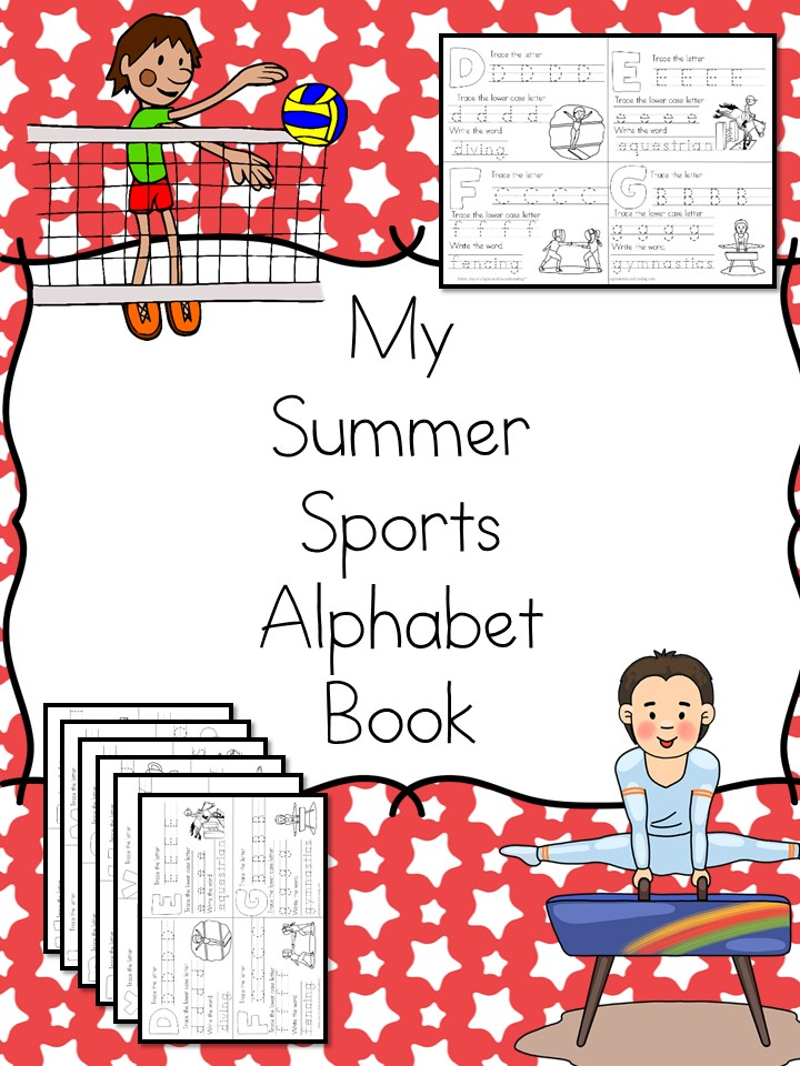 My Summer Sports Alphabet Book - Fun A to Z alphabet book to help celebrate and learn about the worldwide summer games!