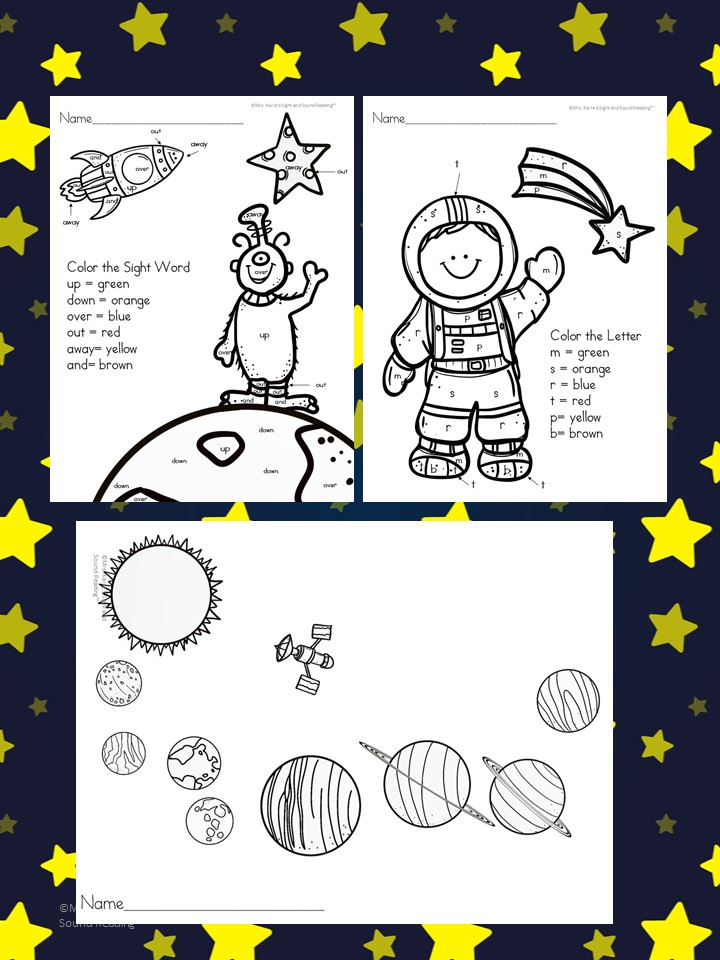 Outer Space Coloring Pages Color
