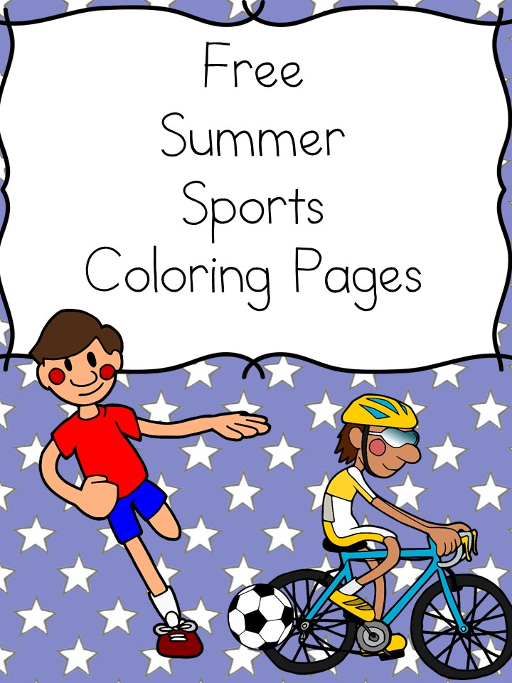 Summer Sports Coloring Pages -Free Fun Summer Sports Coloring Pages for preschool or kindergarten .