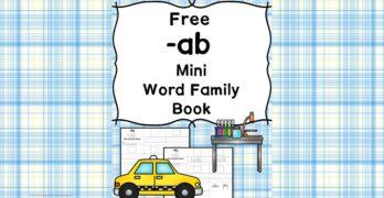 AB CVC Word Family Worksheets