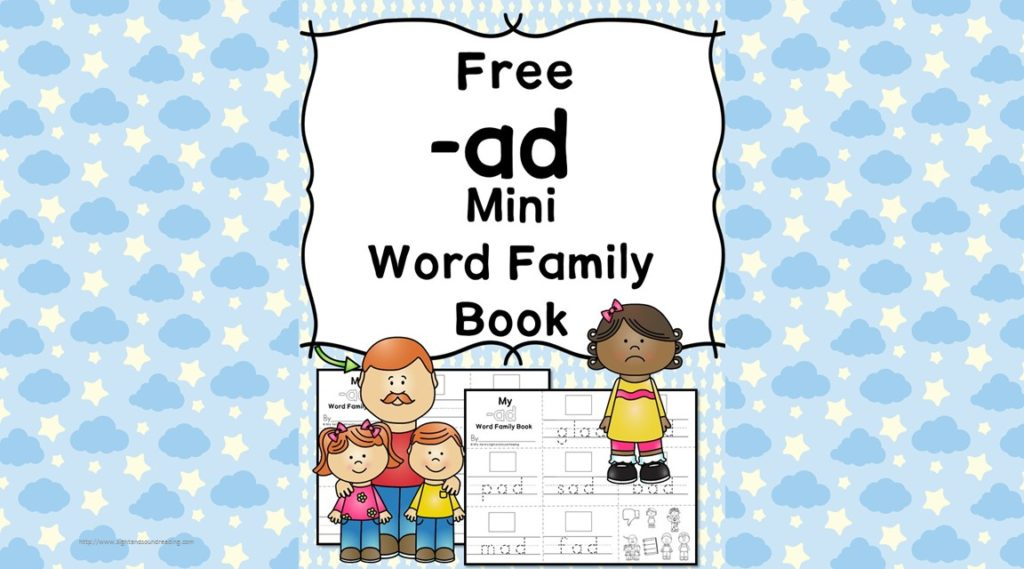 Teach the ad word family using these at cvc word family worksheets. Students make a mini-book with different words that end in 'ad'. Cut/Paste/Tracing Fun