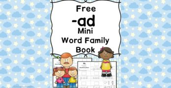 AD CVC Word Family Worksheets