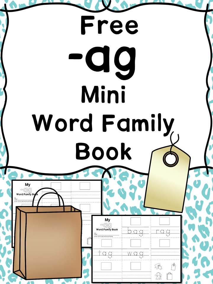AG CVC Word Family Worksheets - Create a Word Family Book!