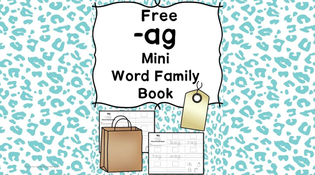 Teach the ag word family using these at cvc word family worksheets. Students make a mini-book with different words that end in 'ag'. Cut/Paste/Tracing Fun