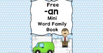 AN CVC Word Family Worksheets