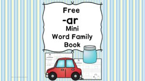 Teach the ar word family using these at cvc word family worksheets. Students make a mini-book with different words that end in 'ar'. Cut/Paste/Tracing Fun