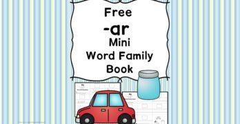 AR CVC Word Family Worksheets
