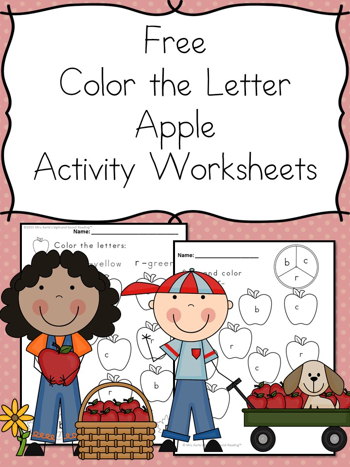 Color by Letter Fall Apple Activity - Make learning fun!