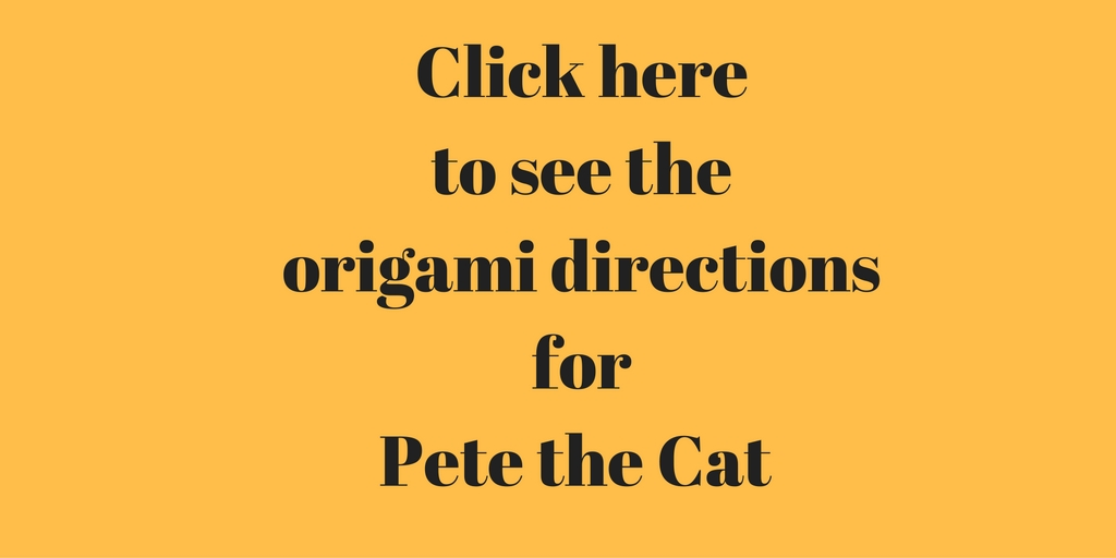 Directions for a Pete the Cat Origami Activity