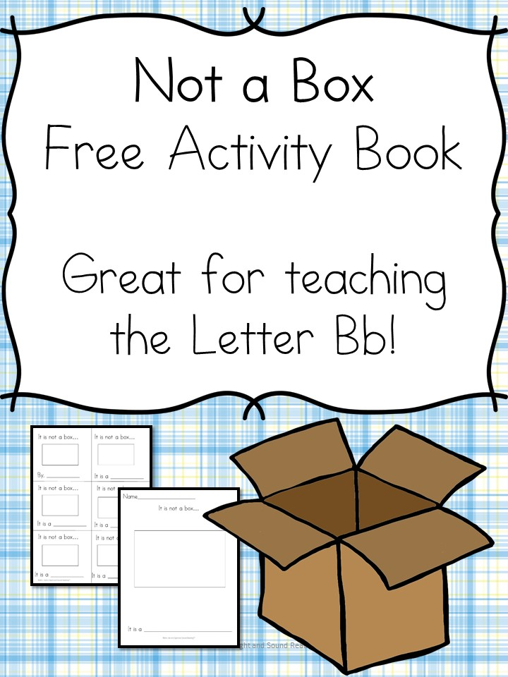 Not a Box Activities and Lesson Ideas -Great for teaching the letter B, the ox word family, creativity... Fun preschool or kindergarten activity worksheets!