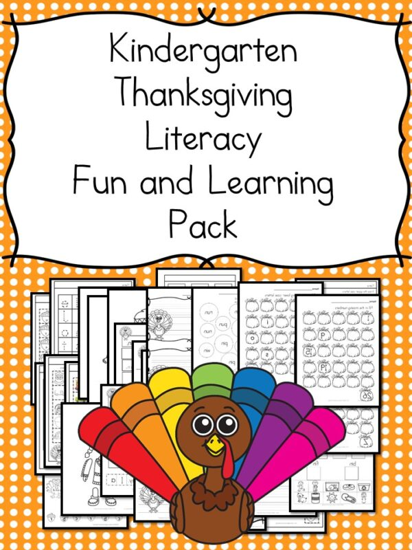 You will love these Thanksgiving Lesson Plans for Kindergarten, complete with book recommendations, activities, and free worksheet pack.