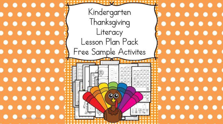 Thanksgiving Lesson Plans for Kindergarten