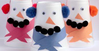 Styrofoam Snowman Crafts