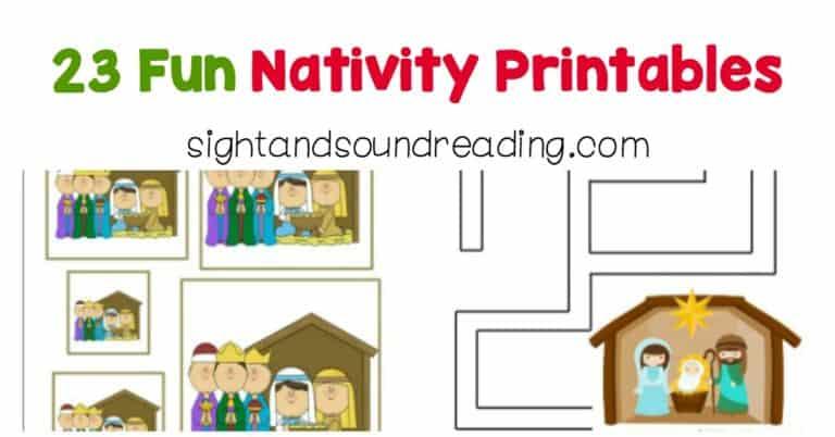 23 Fun Nativity Printables
