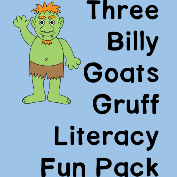Three Billy Goats Gruff Activity Pack for Preschool/Kindergarten