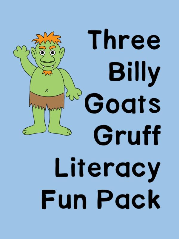 Three Billy Goats Gruff Activity Pack for Preschool/Kindergarten