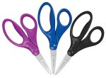 Fiskars 5 Inch Pointed Kids Scissors 3 Pack, Cool