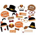 EBTOYS Thanksgiving Photo Booth Props 29 DTY Kits Thanksgiving Day Decorations,Happy Thanksgiving Party Favor