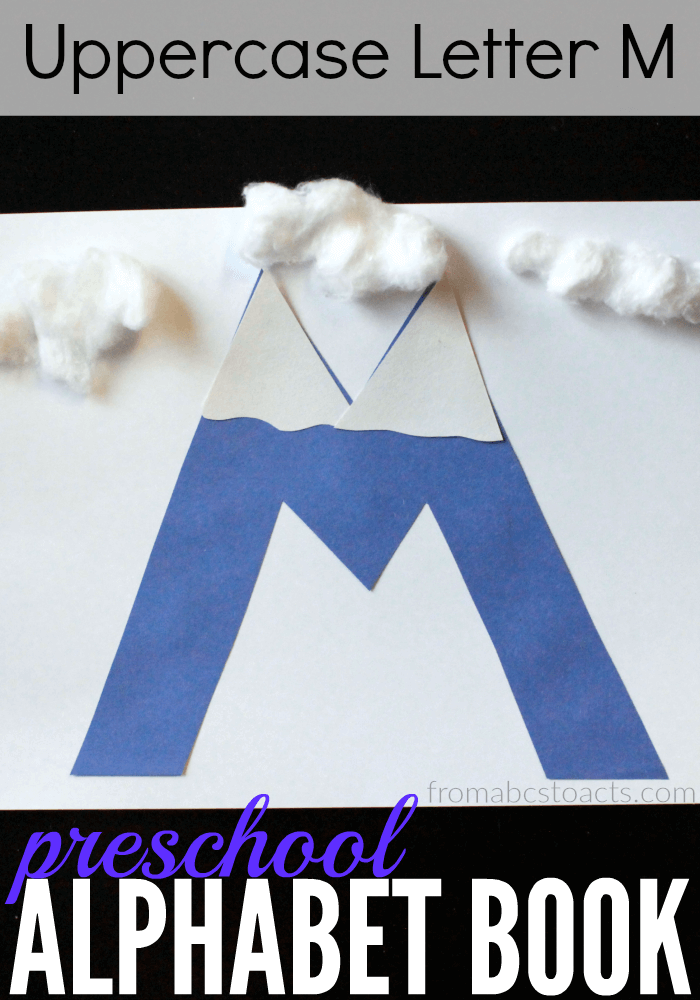 letter m craft the princess and the tot