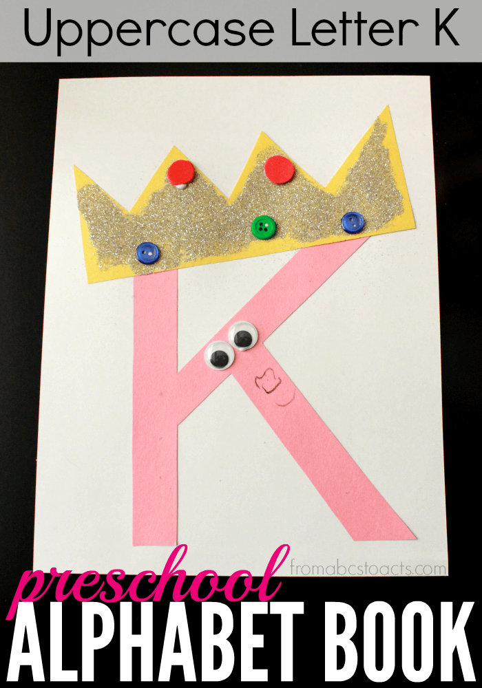 uppercase letter k kings craft from abcs to acts