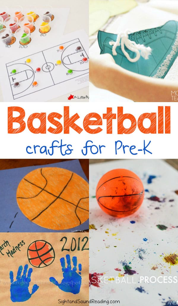 We love both playing and watching the games. Today I would like to share some ideas of basketball crafts for Preschoolers. You can use the crafts for display, watching the basketball games companion, and just for fun.