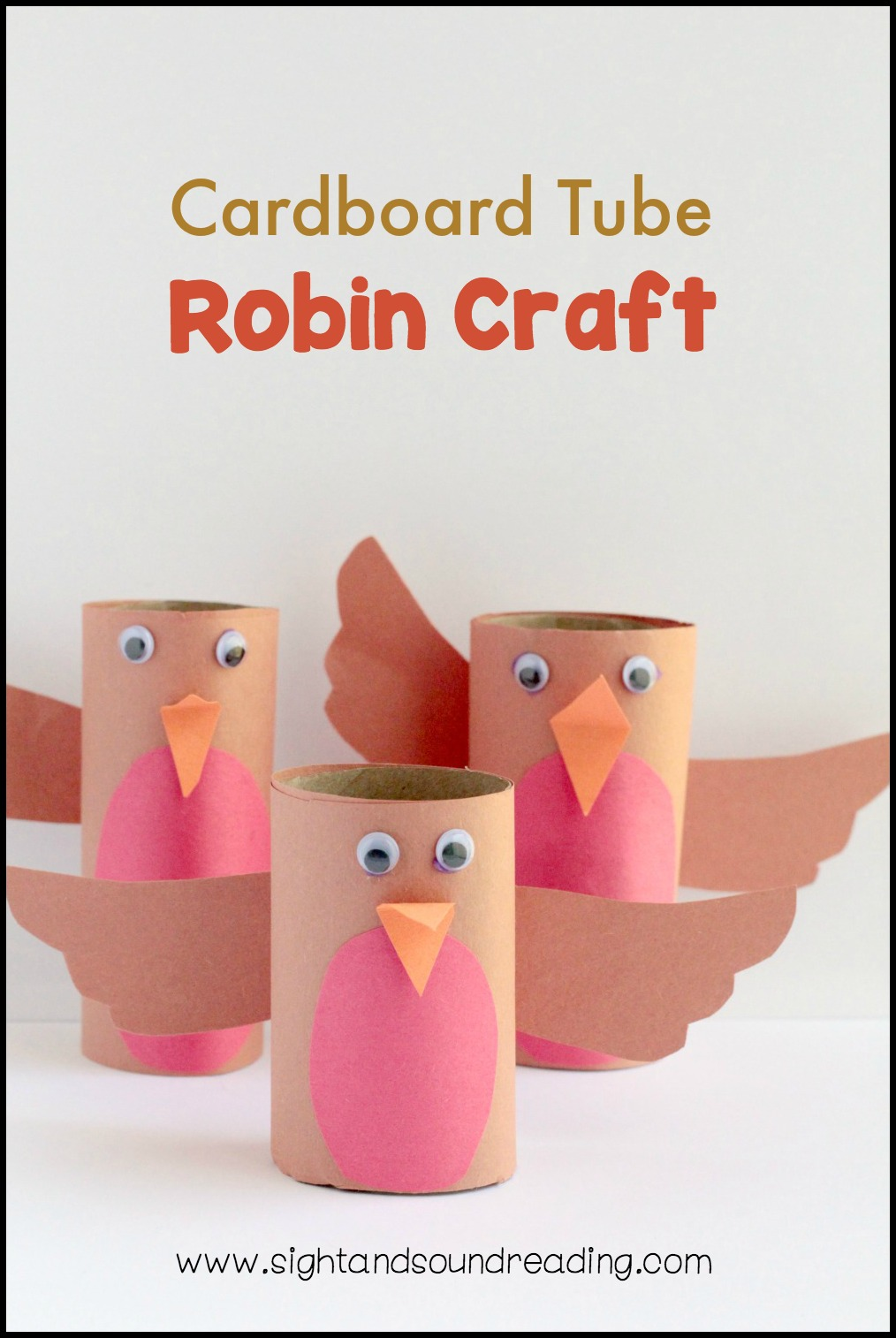 "Don't you just love watching robins in the spring? This fun cardboard tube robin craft can be used for a bird theme, a spring them, an ""R"" or a ""B"" theme!"