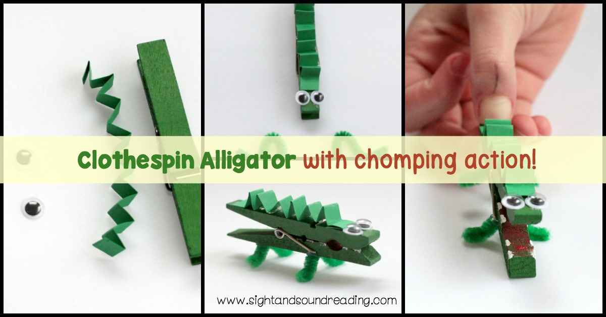 If you're studying the letter A, don't miss out on making this super-fun clothespin alligator craft. Make this activity as a part of your Letter A Crafts.
