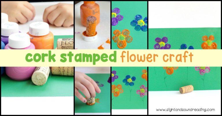 Cork Stamped Flower Craft