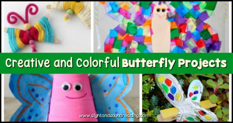 23 Butterfly Craft Projects for Preschool or Kindergarten