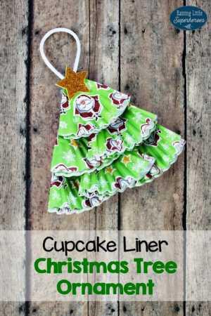 Cupcake Liner Tree Ornament
