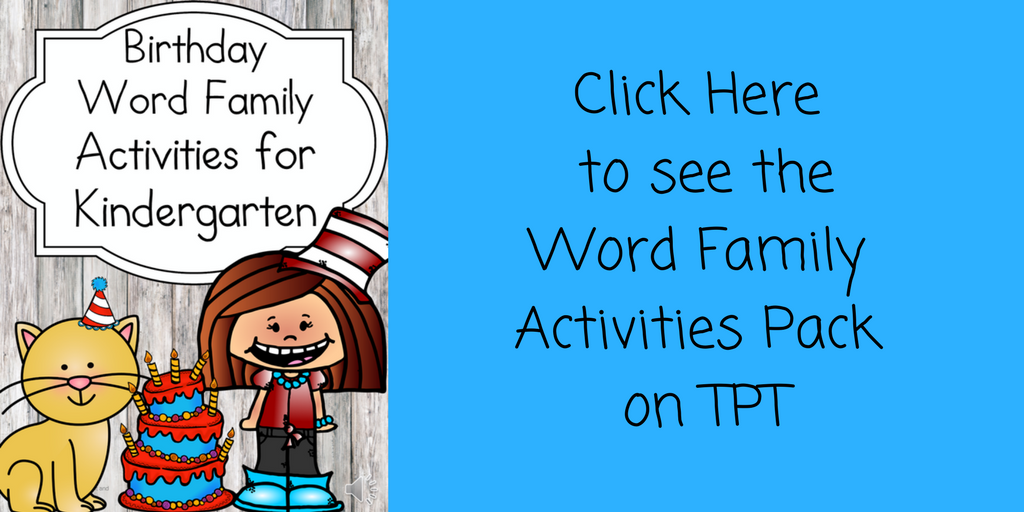 Dr Seuss Word Family Hat – Fun free worksheets for kindergarten!