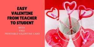 If you are looking or an inexpensive and easy Valentine Gifts for Students from Teachers, this cute and easy craft will make you smile!
