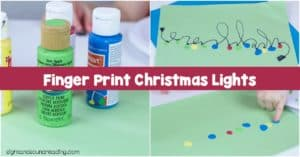 If you're looking for a festive craft that doesn't take long, look no further! The finger print Christmas lights craft is a fun one.
