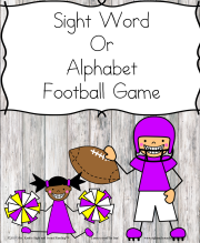 Sight Word Football game for Kindergarten