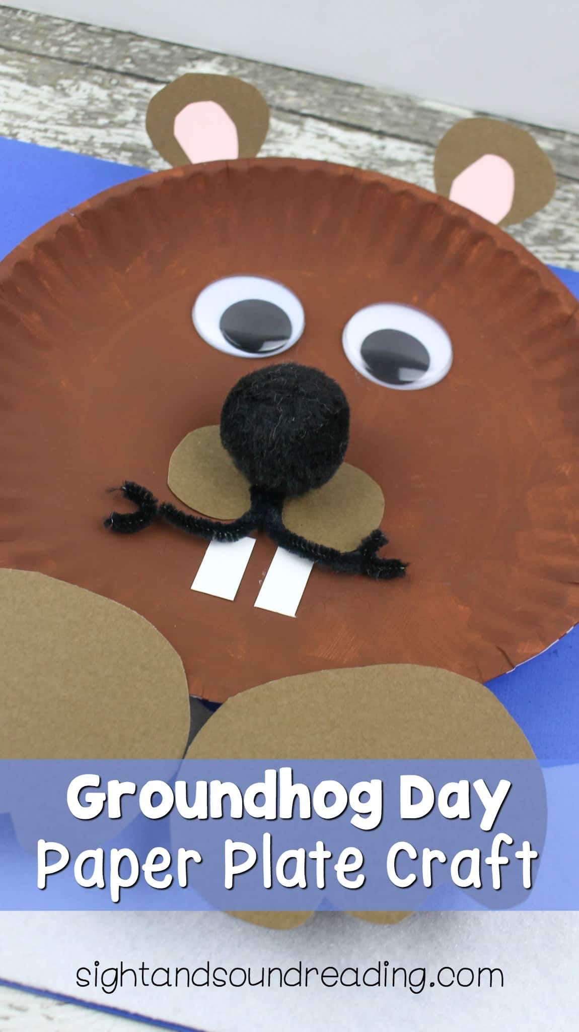 If you love crafts, it will be great to do some crafty things to celebrate the day. Today, I would like to share groundhog day paper plate craft