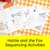 Hattie and the Fox Sequencing Activities