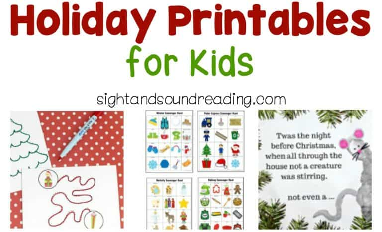 Holiday Printables for Kids