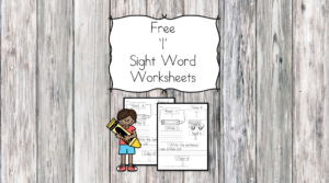 I Sight Word Worksheets -for preschool, kindergarten, or first grade - Build sight word fluency with these interactive sight word worksheets