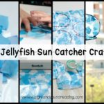 If your kids are tired of being coped up in the classroom, brighten their day with these adorable jellyfish sun catcher craft!