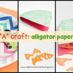 This super simple and fun Letter A Craft is for alligator paper plate. It will help children remember the sound for letter A.