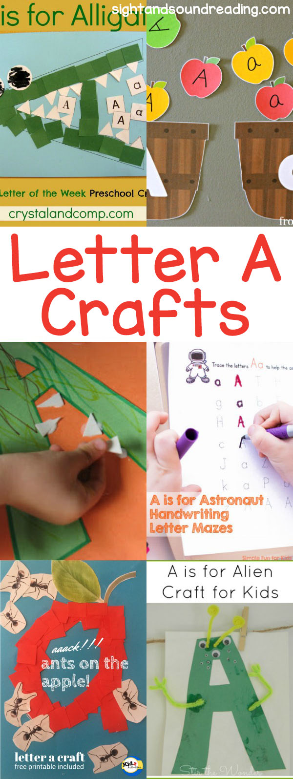 Letter A Crafts for preschool or kindergarten - Fun, easy and educational!