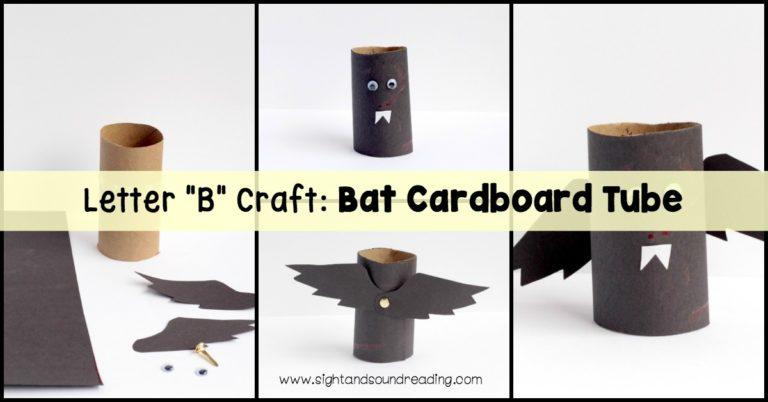 Letter B Craft: Bat Cardboard Tube
