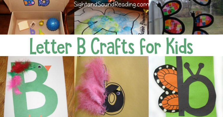 20 Letter B Crafts for Kindergarten- Easy and fun!