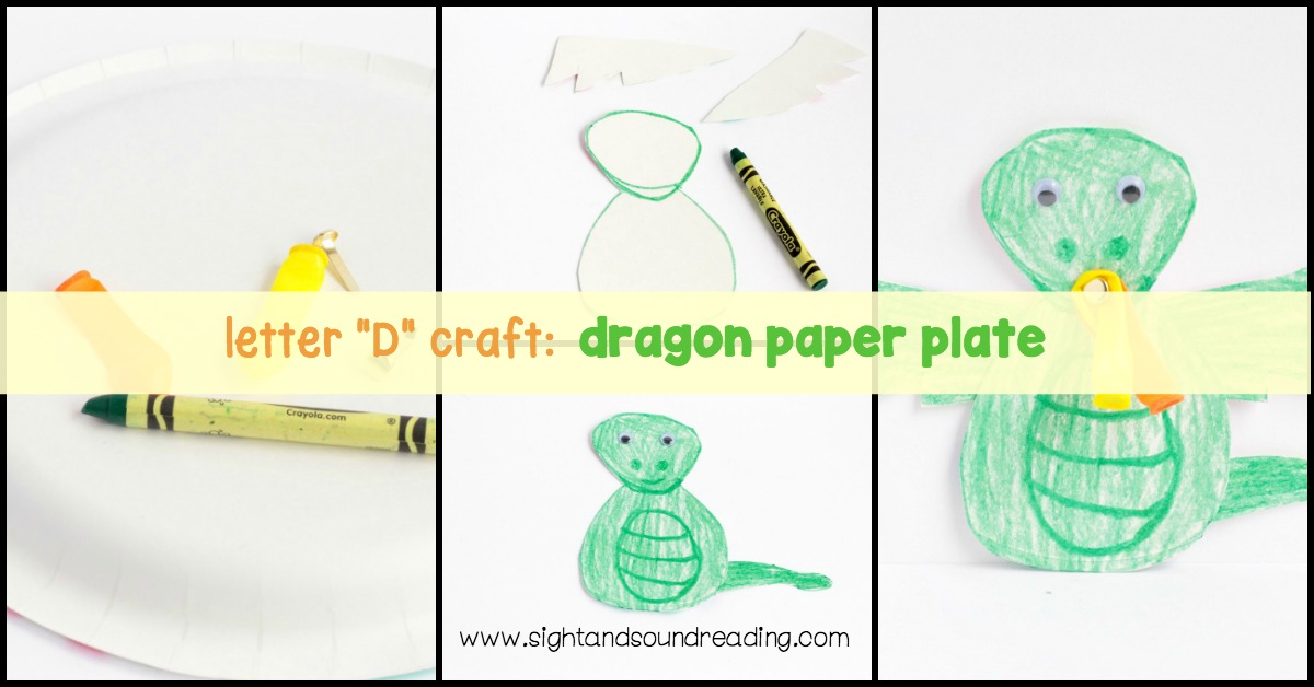 Little ones will be delighted they can make Letter D craft, dragon paper plate, so easily, and they won't mind learning about the letter D at the same time.