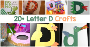 Letter D Crafts for preschool and kindergarten