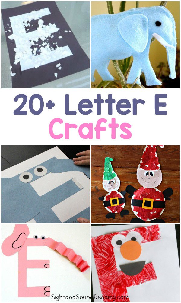 Letter E Crafts for preschool or kindergarten - Fun, easy and educational!