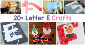 Letter E Crafts for preschool and Kindergarten