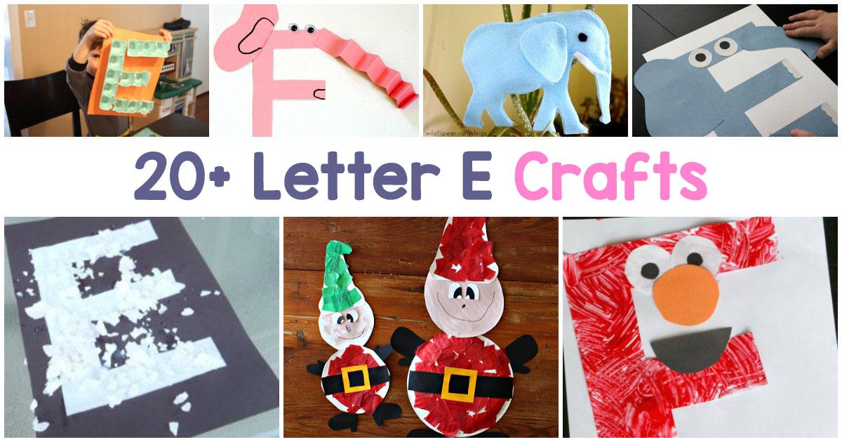 Letter E Crafts for preschool and Kindergarten