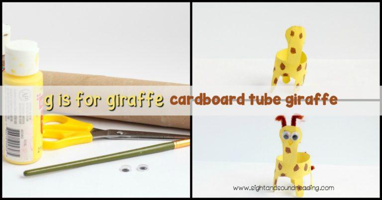 Letter G Craft: Cardboard Tube Giraffe