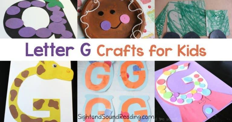 20+ Free Letter G Crafts for Preschoolers